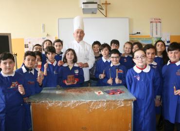 ic Prudenzano, sculture di cioccolata, Cesare Sciambarruto